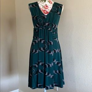 Banana Republic Geometric Pattern Midi Dress sz S